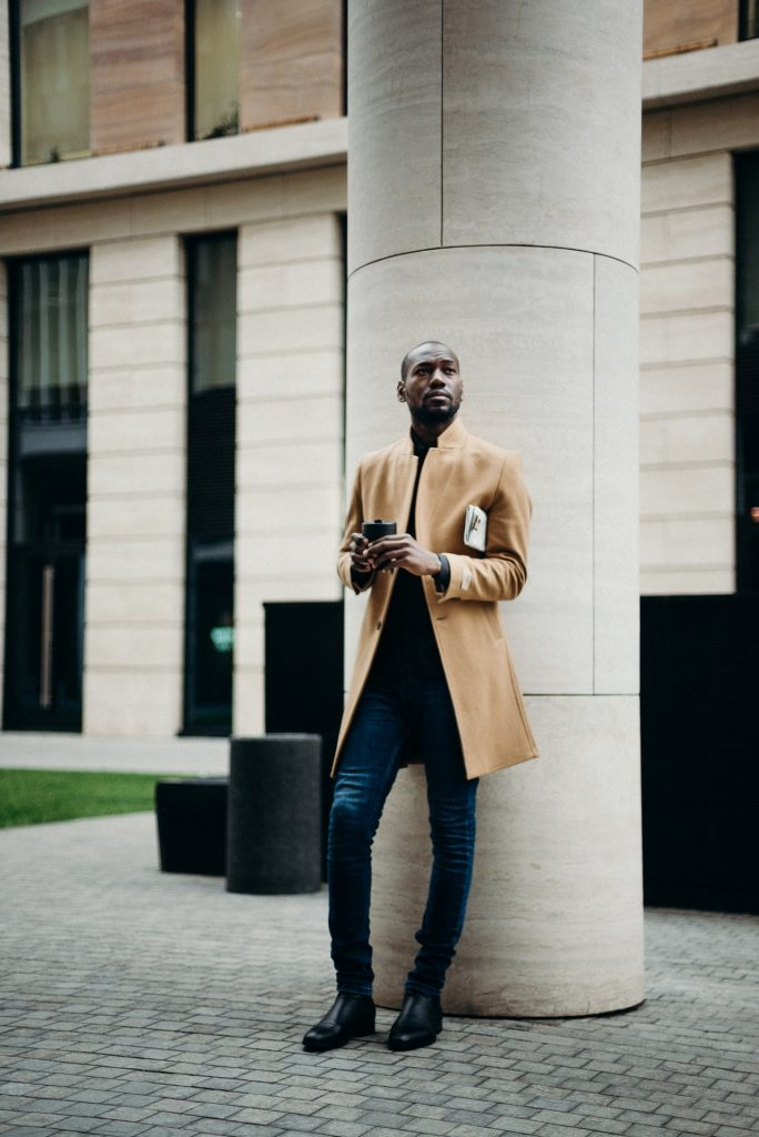 men dressed in trendy fall outfit