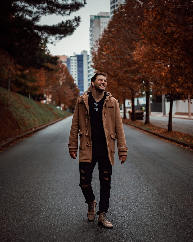 man in fall outfit